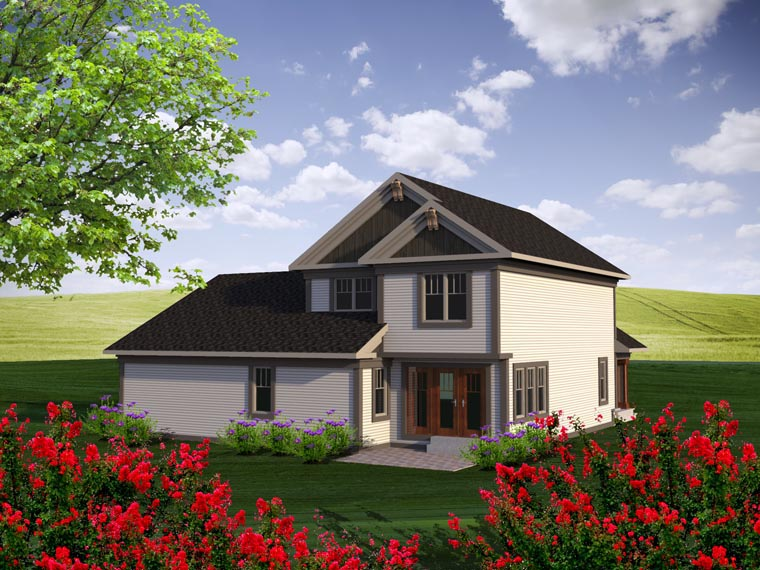 Traditional House Plan 96155 Rear Elevation