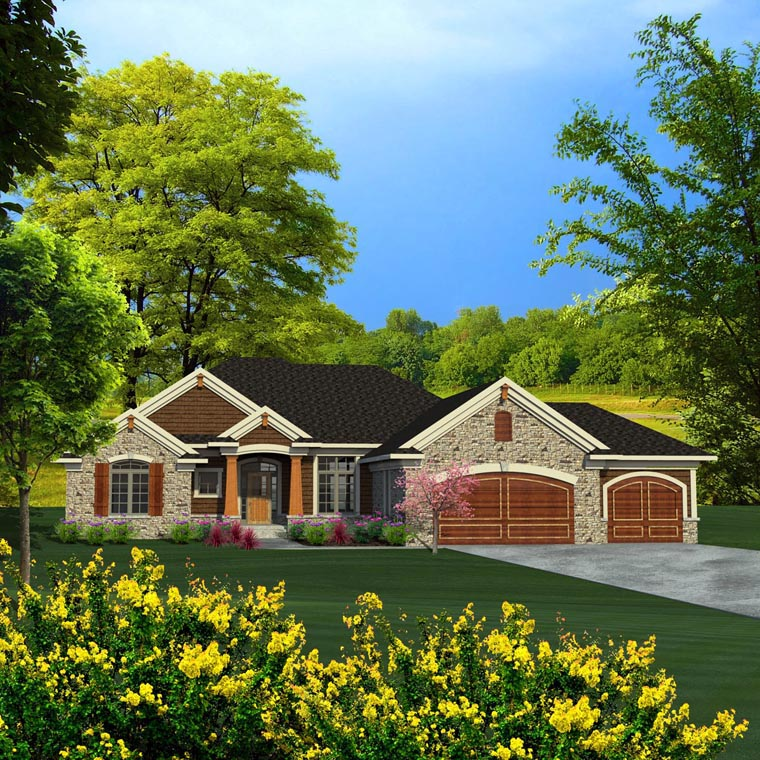 Ranch House Plan 96156 Elevation