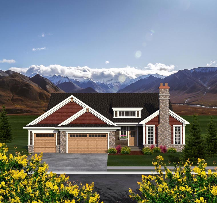 Ranch House Plan 96157 Elevation