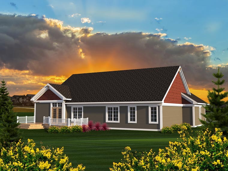 Ranch House Plan 96157 Rear Elevation