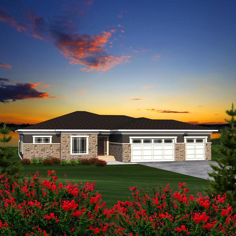 Ranch House Plan 96158 Elevation