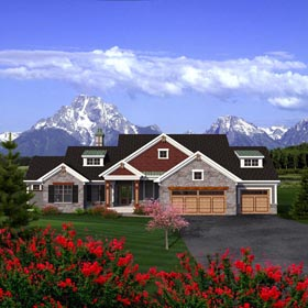 Ranch House Plan 96159 Elevation