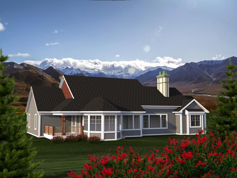 Ranch House Plan 96159 Rear Elevation