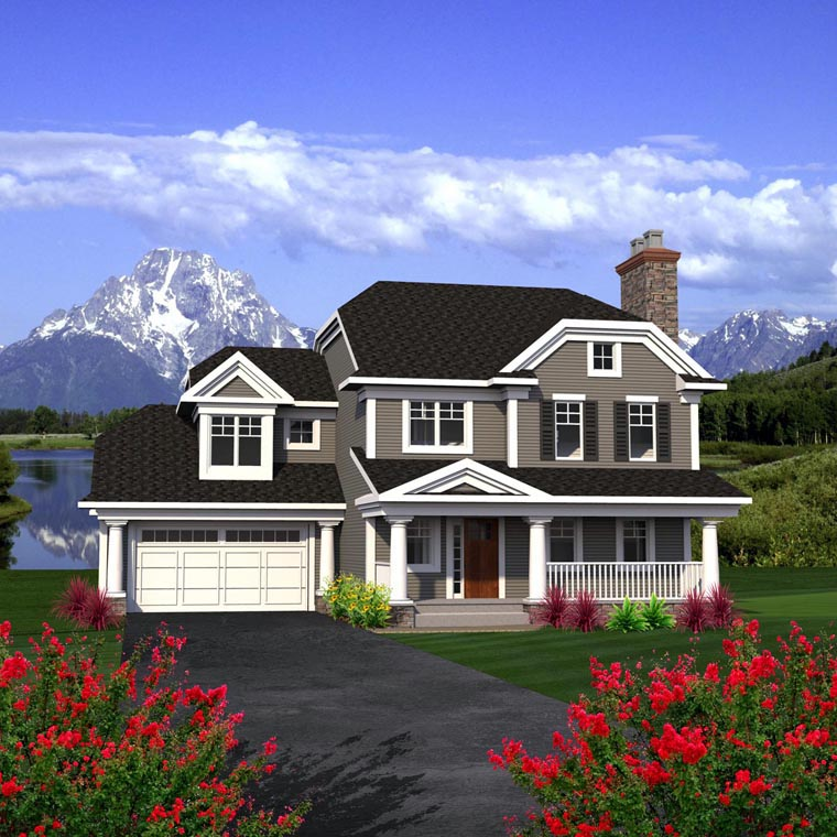 Traditional House Plan 96160 Elevation