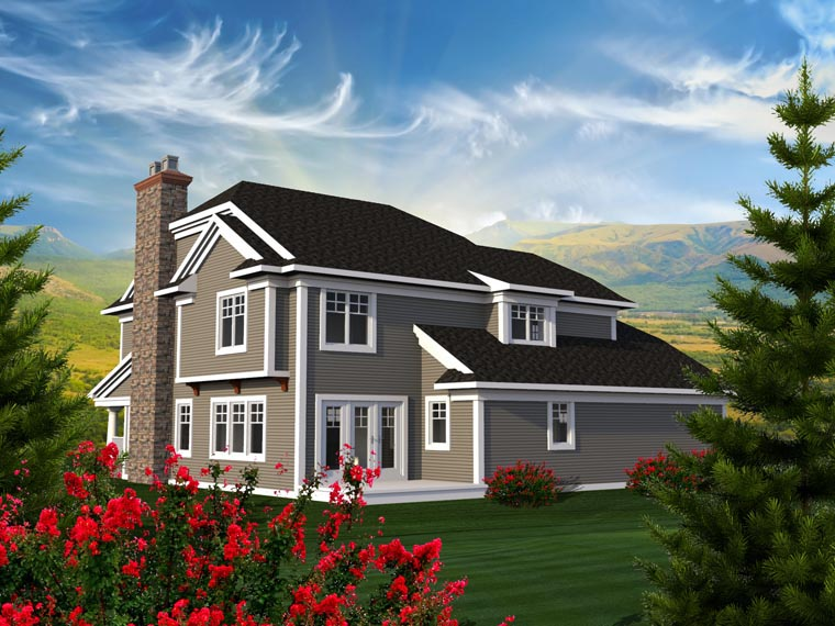 Traditional House Plan 96160 Rear Elevation