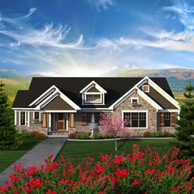 Ranch House Plan 96163 Elevation