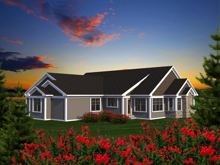 Ranch House Plan 96163 Rear Elevation