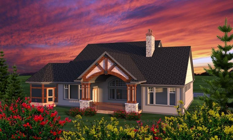 Ranch House Plan 96164 Rear Elevation
