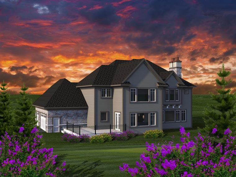 Traditional House Plan 96166 Rear Elevation
