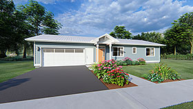 House Plan 96201 with 2 Beds, 2 Baths, 2 Car Garage Elevation
