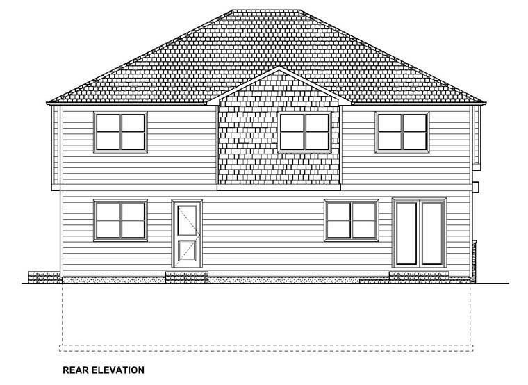 House Plan 96202 Rear Elevation