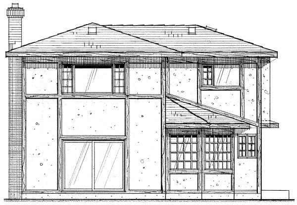 House Plan 96203 Rear Elevation