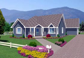 Traditional House Plan 96204 with 2 Beds, 2 Baths, 2 Car Garage Elevation