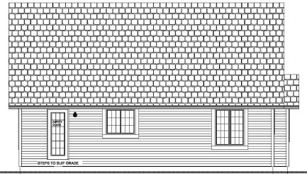 Traditional Rear Elevation of Plan 96204