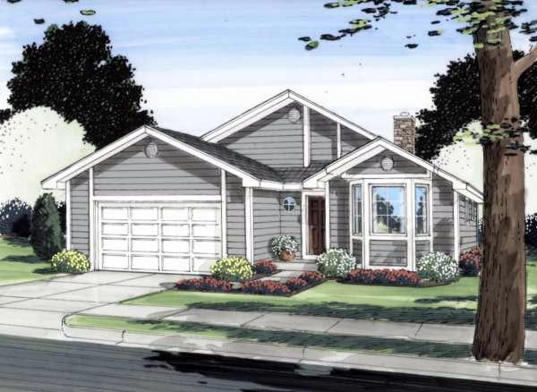 Ranch House Plan 96206 Elevation