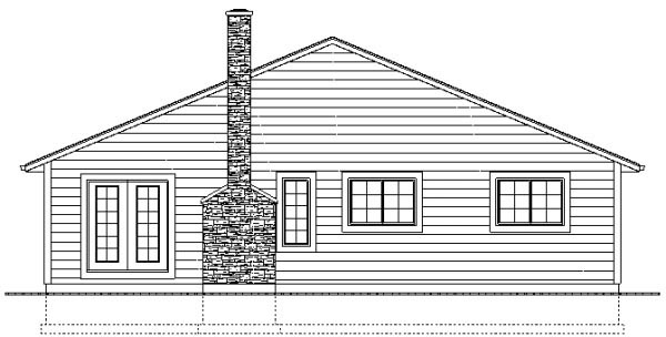 Ranch House Plan 96206 Rear Elevation