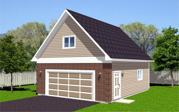 Traditional 2 Car Garage Plan 96208 Front Elevation