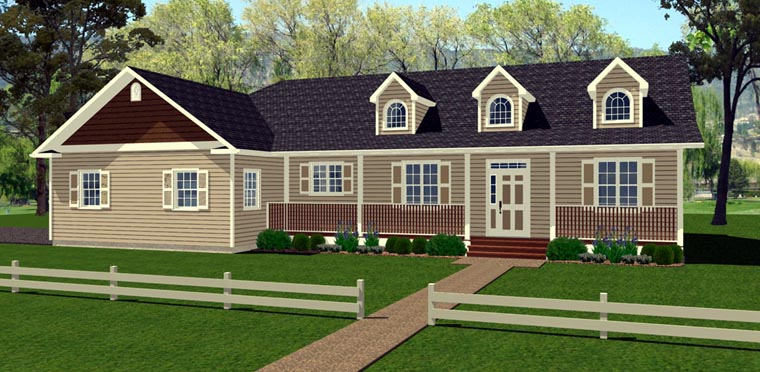 House Plan 96209 Elevation
