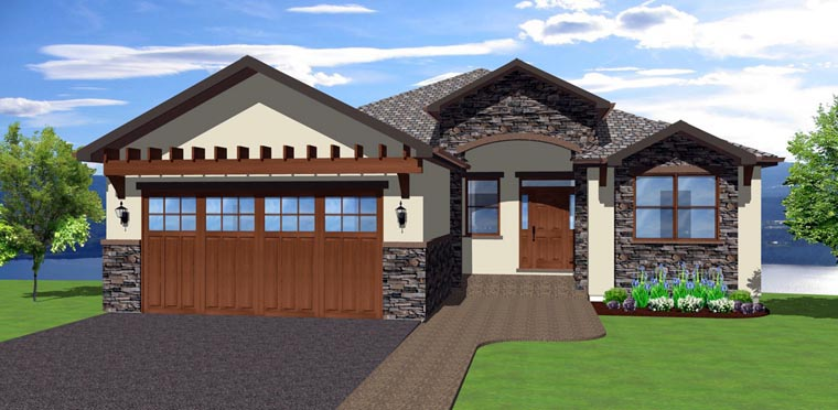 House Plan 96215 | Mediterranean Style Plan with 3850 Sq Ft, 3 Bedrooms, 5 Bathrooms, 2 Car Garage Elevation