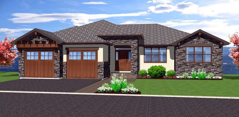 Mediterranean Ranch House Plan 96216 Elevation