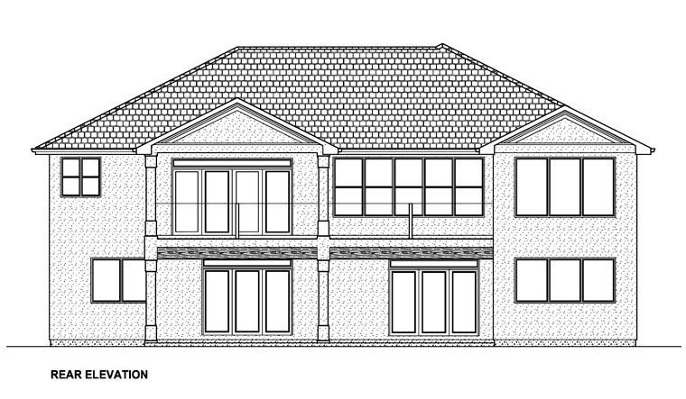 Mediterranean Ranch House Plan 96216 Rear Elevation