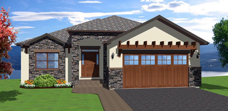 Mediterranean Ranch House Plan 96217 Elevation