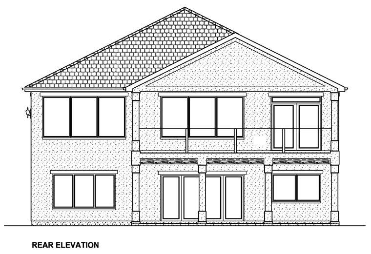 Mediterranean Ranch House Plan 96217 Rear Elevation