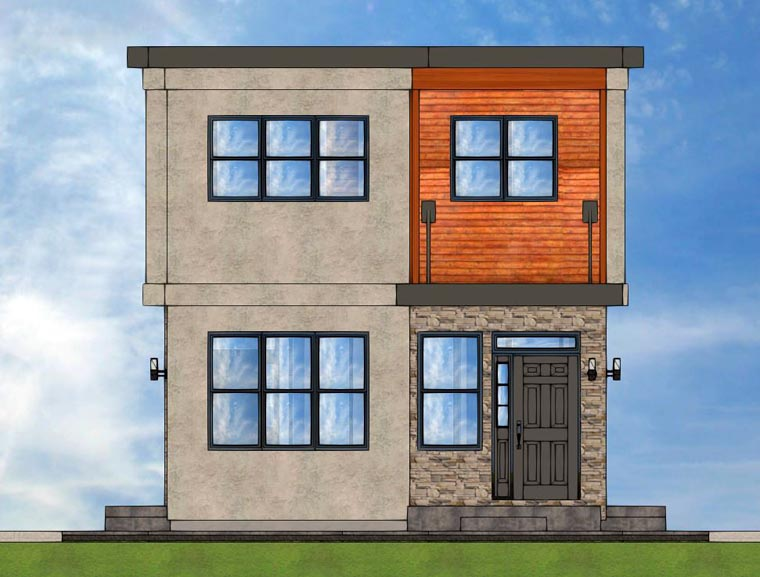 Contemporary Multi-Family Plan 96218 Rear Elevation