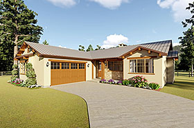 House Plan 96219 Elevation