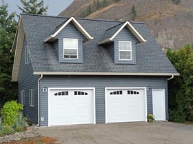 Cape Cod , Traditional 2 Car Garage Apartment Plan 96220 with 1 Beds, 1 Baths Elevation