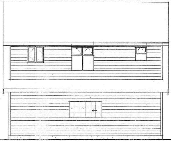 Garage Plan 96220 Rear Elevation