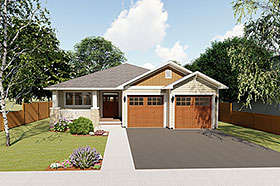 Plan Number 96228 - 1403 Square Feet