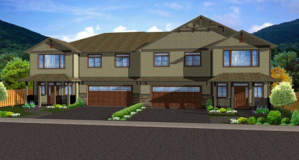 Multi-Family Plan 96229 Elevation