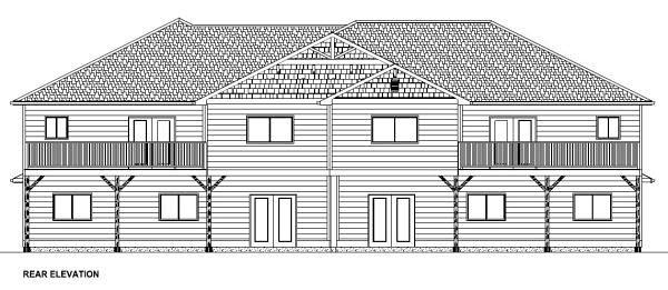 Multi-Family Plan 96229 Rear Elevation