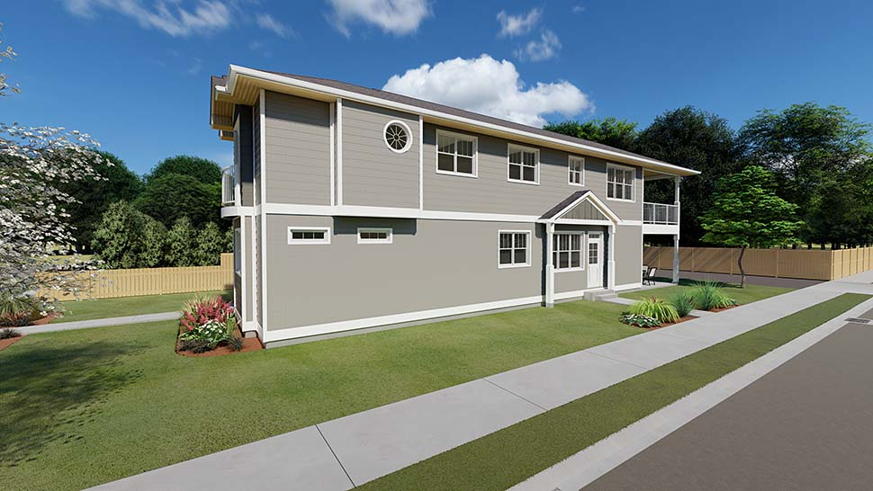 Traditional Multi-Family Plan 96230 with 5 Beds, 4 Baths Picture 2