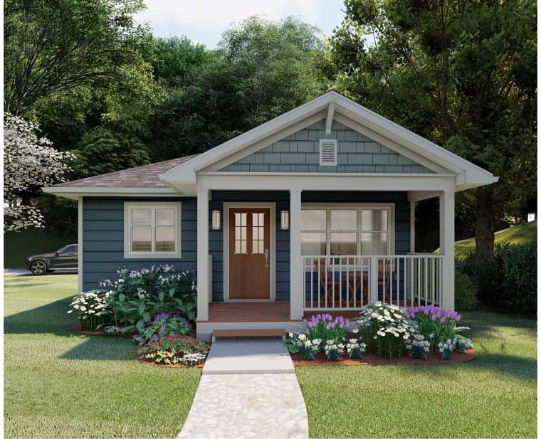 Craftsman Style House Plan 96235 with 624 Sq Ft , 1 Bed , 1 Bath