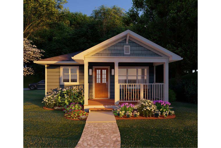 Bungalow, Cabin, Cottage, Country, Craftsman House Plan 96235 with 1 Beds, 1 Baths Picture 1