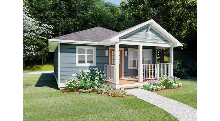 Bungalow, Cabin, Cottage, Country, Craftsman House Plan 96235 with 1 Beds, 1 Baths Picture 2