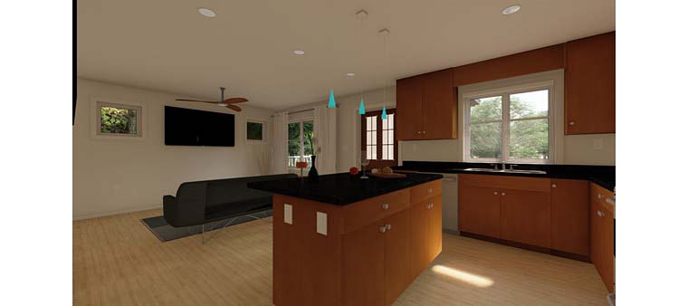 Bungalow, Cabin, Cottage, Country, Craftsman House Plan 96235 with 1 Beds, 1 Baths Picture 4