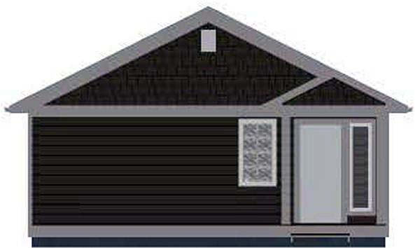 Bungalow, Cabin, Cottage, Country, Craftsman House Plan 96235 with 1 Beds, 1 Baths Rear Elevation