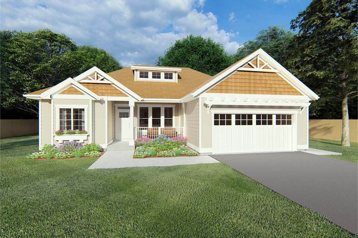 Bungalow Cottage Country Craftsman Elevation of Plan 96236