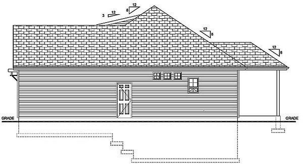 Bungalow, Cottage, Country, Craftsman House Plan 96236 with 3 Beds, 2 Baths, 2 Car Garage Picture 1