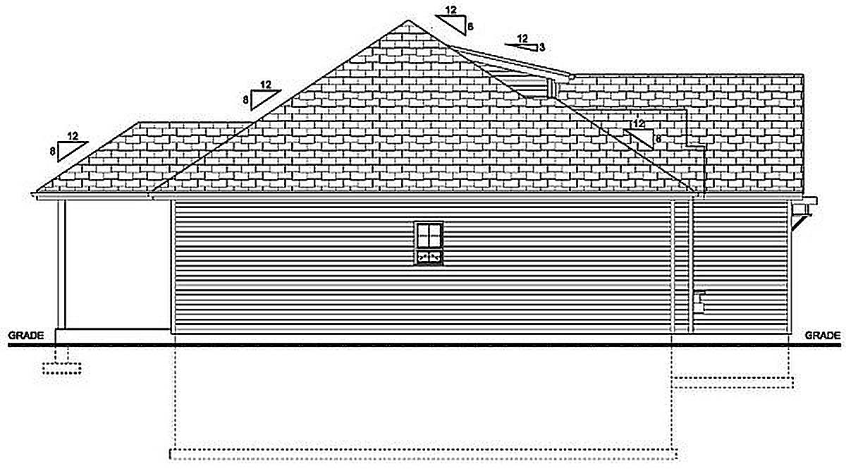 Bungalow, Cottage, Country, Craftsman House Plan 96236 with 3 Beds, 2 Baths, 2 Car Garage Picture 2