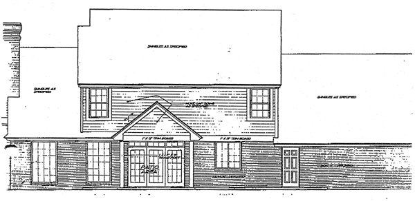 European Victorian House Plan 96301 Rear Elevation