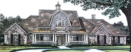 Colonial Country Farmhouse Victorian House Plan 96325 Elevation