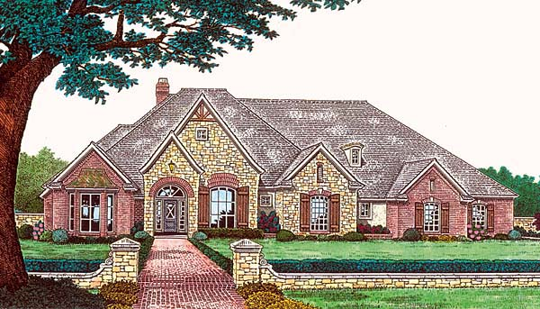 European Tudor House Plan 96326 Elevation