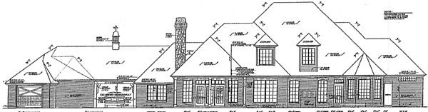 French Country Tudor House Plan 96327 Rear Elevation