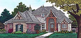 House Plan 96328 | European French Country Style Plan with 3013 Sq Ft, 4 Bedrooms, 4 Bathrooms, 3 Car Garage Elevation
