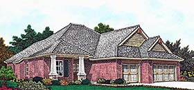 European Traditional House Plan 96331 Elevation