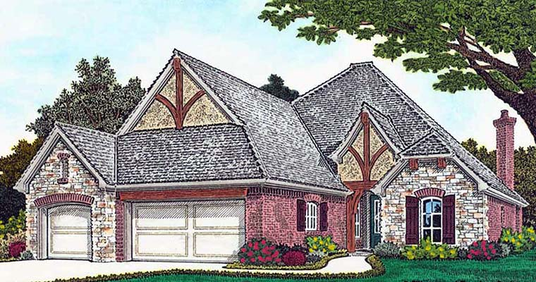 Cottage Country European French Country House Plan 96332 Elevation